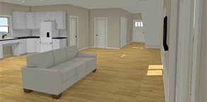ADA open floor plan